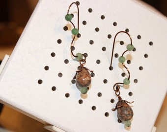 Stone Beaded Earrings with Style