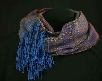 Hand woven infinity scarf