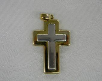 """Sterling Silver 925.Lovely Cross Pendant 2"""" Long ET. 6047"""