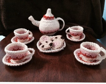 Crocheted Tea Set