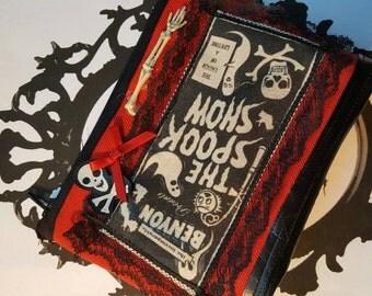 Goth Deathrock  Creepy Purse Cosmetic Bag