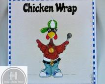 Funny Food Card. Chicken Card. Food Lover Birthday Card. Son Card. Brother Card. Boyfriend Card. Rap Music Rapper. Street Wear Chicken Wrap