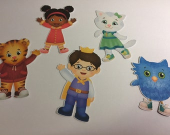 Daniel Tiger Die Cuts set of 5