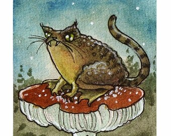 Cat Toad - Limited Edition ACEO print