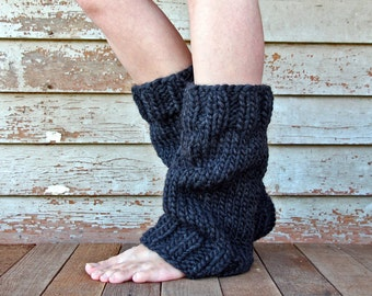 Super Bulky Leg Warmers Knitting Pattern - UNDERSTANDING - a set of INSTRUCTIONS to knit the leg warmers