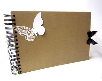 A4 Butterfly Scrapbook, Photo Album, Guestbook, Memory Keepsake, Blank Crafting