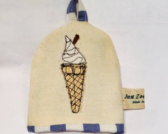 Ice cream seaside themed  egg cosy