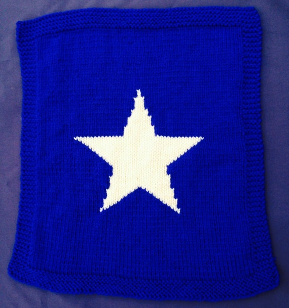 Star Baby Blanket Knitting Pattern : Star baby blanket knitting pattern chunky yarn.