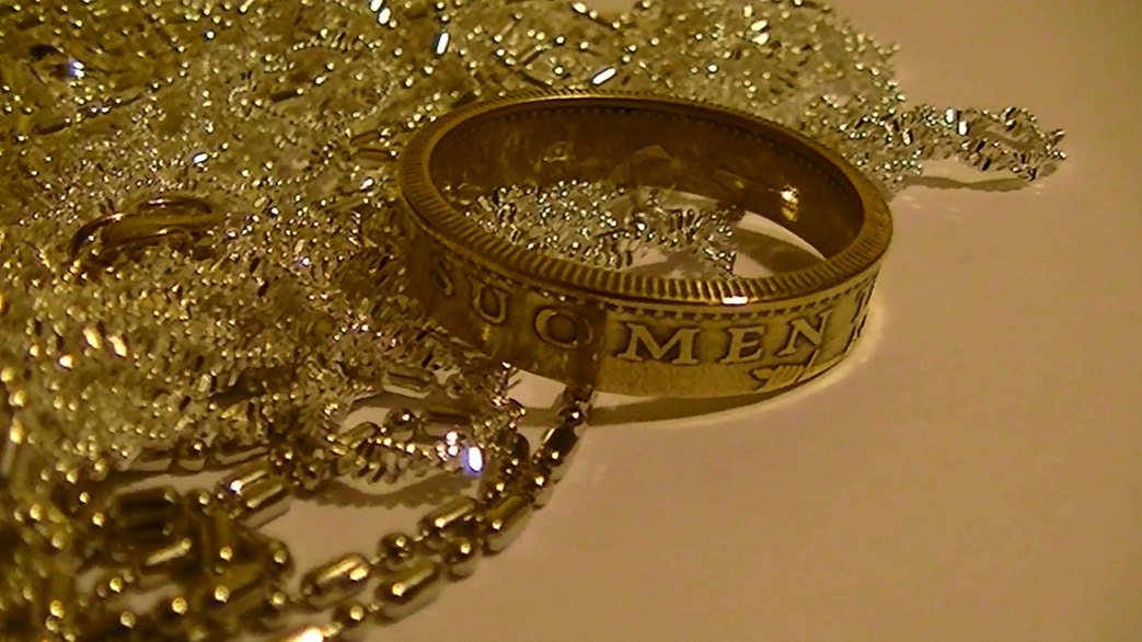 coin jewelry coin ring finland 50 pennia 1974 size