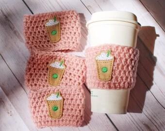 Crochet Coffee Cozy ~ Frappuccino Cozy ~ Frappe Coffee Cozy