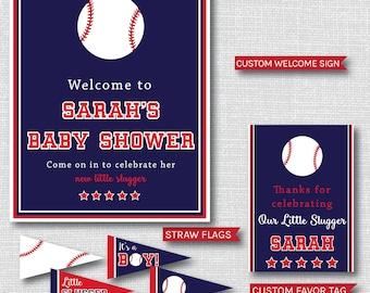 Modern Baseball Baby Shower Printable Party Package - Baseball Baby Shower Party Decor - DIGITAL DESIGN