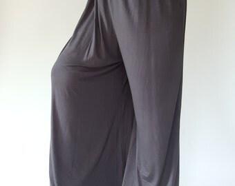 Super soft cotton  Wide Leg Palazzo Harem Pants Cotton  Medium/Large (Code : L0005)