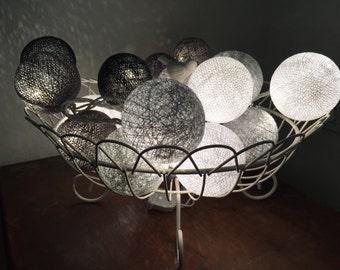 Cotton Ball Lights for home decoration,wedding patio,indoor string lights,bedroom fairy lights,20 Bulbs
