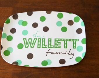 Personalized Melamine Platter