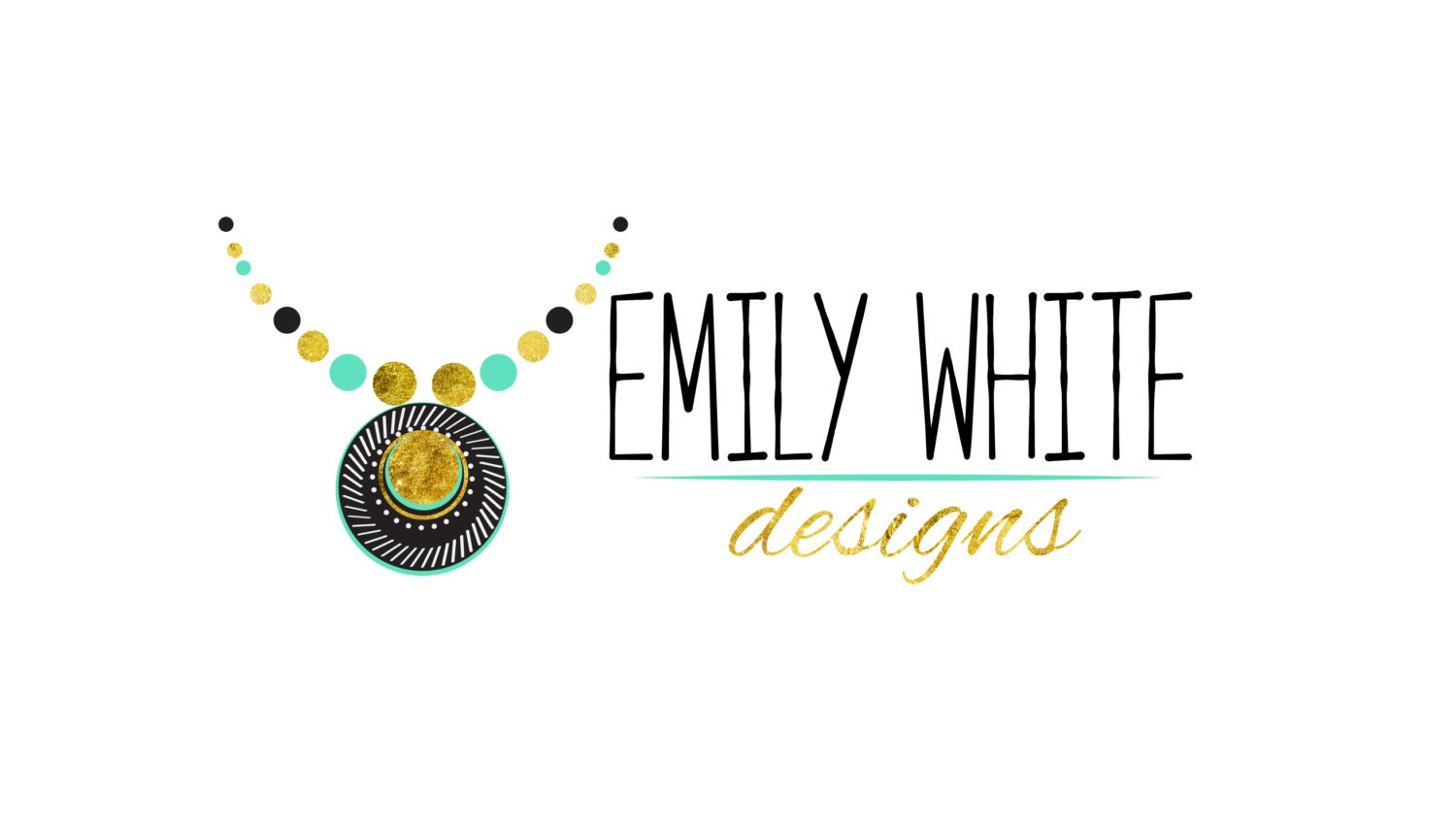DIGITAL Custom logo design necklace logo jewelry Logo