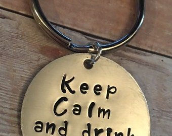 Keep calm and drink plexus keychain