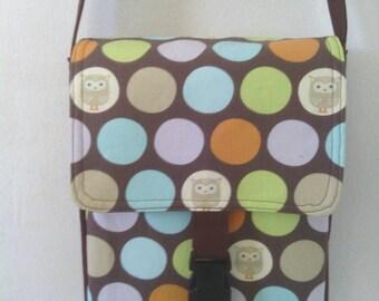Brown Owl Polka Dot, Hipster, Messenger / Cross Body Bag