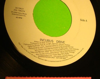 INCUBUS Mint Unplayed Epic Records Jukebox Promo Coin op 45 Record TS Title Strip!