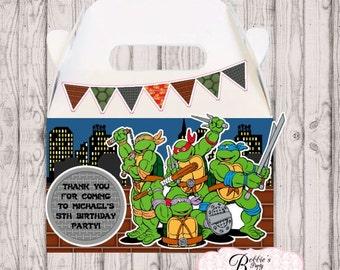 10 Ninja Turtles party favor box