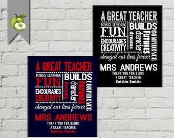 Teacher subway art, diy Printable, Teacher Gift, Teacher Personalized, Teacher Gift from Class  End of Year Gift , DIY printable, kids gift