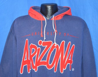 90s Arizona Wildcats Double Hoodie Sweatshirt Medium