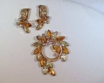 Juliana Brooch and Earrings