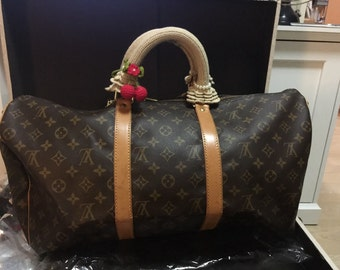 Bag Handle. Crochet Handle covers for louis vuitton Keepall
