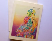 """Carl Sagan Greeting Card  """"We are each of us, a multitude."""""""
