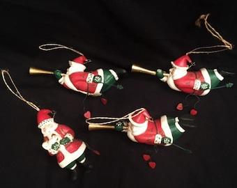 Christmas - 4  Santa ornaments