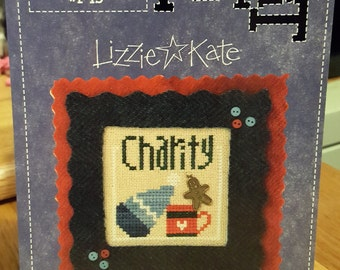 CHARITY BLESSING Flip-it Cross Stitch Chart by Lizzie Kate #F49 2006 with Charm