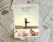 """Wedding Save The Date Magnets - KindlePark Rustic Photo Personalized 4.25""""x5.5"""""""