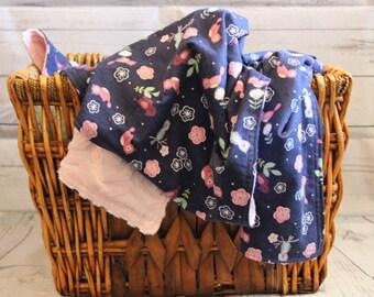Little Bird Blanket, Baby Blanket, Minky Blanket, Soft Blanket, Girl Blanket, Baby Girl Blanket, Baby Gift, Crib Blanket, Super Soft Blanket