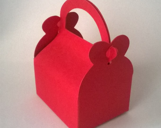 Heart Wedding Favour Box, Made to order, Choose colour,