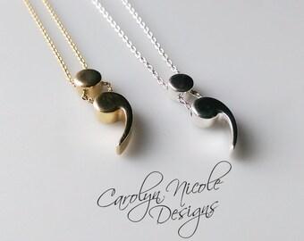 Semicolon Necklace (Sterling Silver)