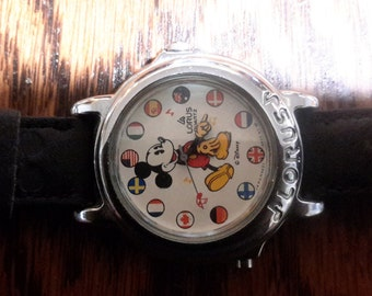 Micky Mouse International Watch By Disney  Lorus Quartz, working & wearable condition.