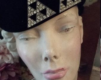 Vintage Halston Wool Hat