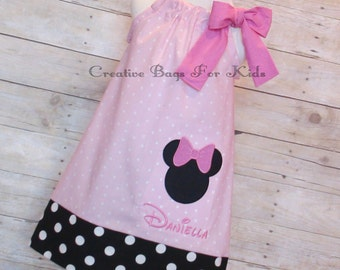 Minnie Mouse Dress/ Minnie Mouse Outfit/ Minnie Mouse Set (matching bag available)
