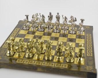 Atlas chess set (25X25) / Bronze chess board