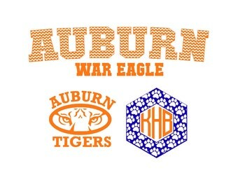 Auburn War Eagle  Jersey Set SVG Silhouette Studio Eps Pdf  PNG Vinyl cuttingfiles