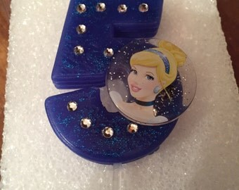 Cinderella birthday number candle
