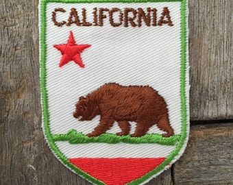 California State Flag Vintage Travel Patch by Voyager