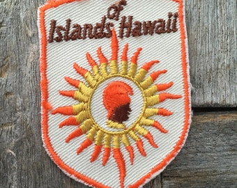Islands of Hawaii Vintage Travel Patch by Voyager