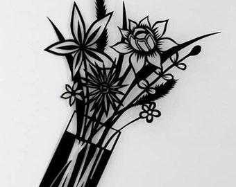 Flowers Handmade Papercut