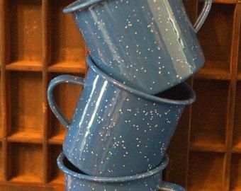 Vintage Graniteware Enamelware Coffee Cups