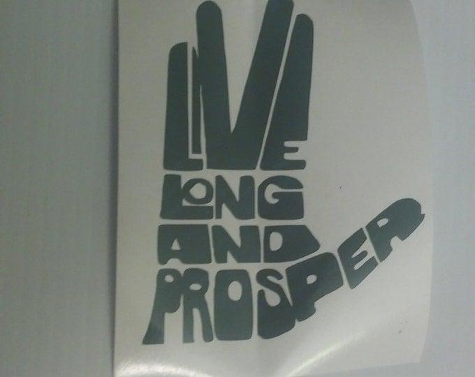 Spock Live Long and Prosper Vulan Star Trek Vinyl Decal
