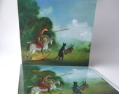 "Single Greetings Card: ""Don Quixote and Sancho Panza Happening Upon 'Giants'"""