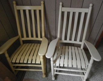 set of two 1950's wooden Rocking chairs