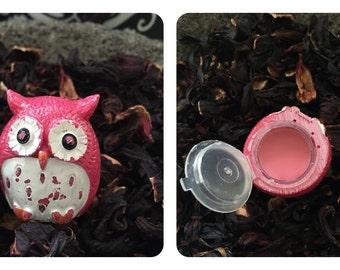 Owl lip balm hibiscus lip balm