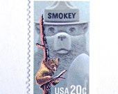 10 Unused Smokey Bear Postage Stamps // Vintage 20 Cent Forest Fire Prevention Stamps // National Park Service Postage Stamps for Mailing