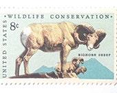 10 Unused Bighorn Sheep Postage Stamps // Vintage 1971 Stamps Set for Mailing